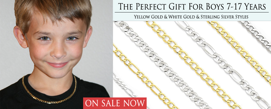 Gold and Silver Necklaces for Boys - ON SALE!
