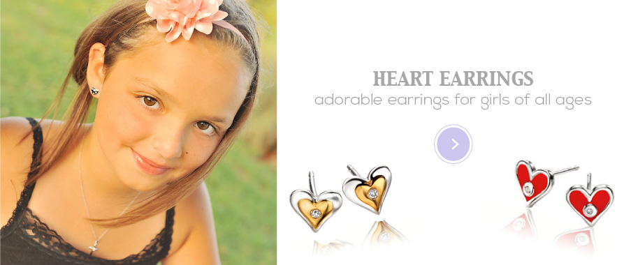 Heart Earrings for girls of all ages