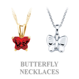 Butterfly Necklaces for Children