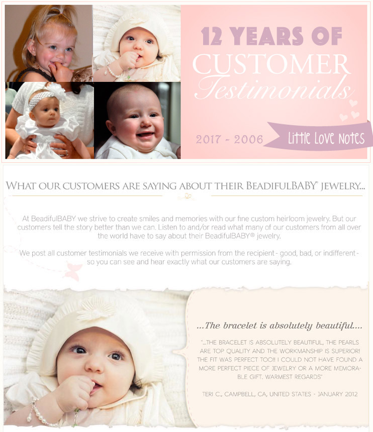 BeadifulBABY testimonials and photos