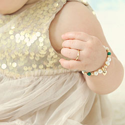 A First Ring for Baby™ - 10K Yellow Gold Baby Band - Size 1 Baby Ring - BEST SELLER/