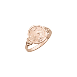 Guardian Angel - 10K Yellow Gold Toddler, Child Ring for Girls and Boys - Size 4 1/2/