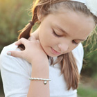 Katie Lane™– Grow-With-Me® designer bracelet – Sterling silver name bracelet – Personalize with birthstones & charms