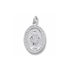 Rembrandt Sterling Silver Miraculous Medal Charm – Add to a bracelet or necklace/