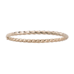 Fine Toddler Bracelets - 14K Yellow Gold Baby, Toddler Bangle Bracelet - Size 5.25