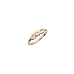 Beautiful 10K Yellow Gold Girls Ring - Size 2 1/2 (2 - 6 years)/