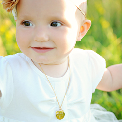Gold Ava™ by Adorable Engravables® - Build Your Own Custom Personalized Necklace - 14K Yellow Gold/