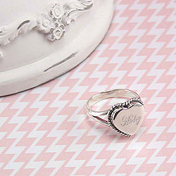 My Lovable Baby™ by Adorable Engravables™ - Sterling Silver Personalized Engravable Heart Ring - Choose from four sizes 6, 7, 8, and 9/