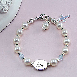 Rebecca Gemstone Collection™ by My First Pearls® – Grow-With-Me® designer original freshwater cultured pearl bracelet – Personalize with gemstones & charms/