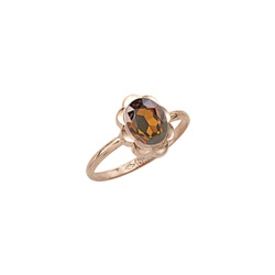 Girl's Birthstone Rings - 10K Yellow Gold Girls Synthetic Citrine Birthstone Ring - Size 5 1/2 - Perfect for Grade School Girls, Tweens, or Teens - BEST SELLER - LAST ONE/