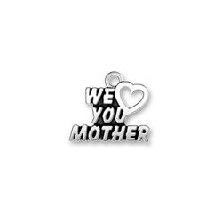 We Heart You Mother Charm - Sterling Silver/