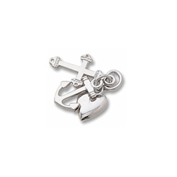 Rembrandt 14K White Gold Faith, Hope, and Charity Charm (Medium - Three Pieces) – Add to a bracelet or necklace/