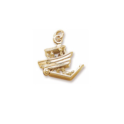 Rembrandt 10K Yellow Gold Noah's Ark Charm – Add to a bracelet or necklace/