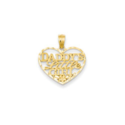 Daddy's Little Girl Pendant - 14K Yellow Gold - Chain included - BEST SELLER/