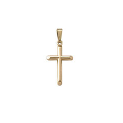 Religious Gifts for Child Boys & Girls - Boys and Girls Baby/Child Cross Necklace  - 14K Yellow Gold  - Includes 15