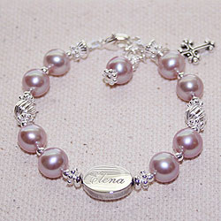 Elena™ by My First Pearls® – Grow-With-Me® designer original freshwater cultured pearl bracelet – Personalize with gemstones & charms/