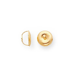 14K Yellow Gold Threaded Screw-Back Earring Back / Nut - One (1)/
