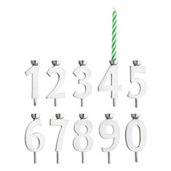 It's My Birthday! - Tarnish-Resistant Silver Plate Birthday Candle Holder Set - Set of 10 Silver-Plated Candle Holders - Includes Birthday Candles - BEST SELLER/