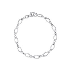 My Favorite Charm Bracelet™ – Rembrandt Sterling silver figure eight link charm bracelet – Personalize with birthstones & charms - Size 7 - BEST SELLER/