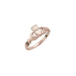 Claddagh - Love, Friendship, & Loyalty - 14K Yellow Gold Children's Claddagh Ring - Size 4 Child Ring/