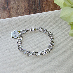 Graceful Heirloom™ – Rembrandt Sterling silver charm bracelet – Personalize with birthstones & charms - Size 8/