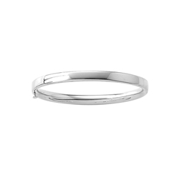 Fine Baby Bracelets - 14K White Gold Baby, Toddler Bangle Bracelet - Size 4.5