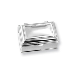 Emily Claire - Engravable Rectangular Silver-Plated Jewelry Box/