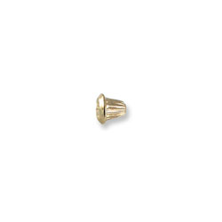 14K Yellow Gold Screw Backing (One Back) - Screw back fits all BeadifulBABY safety threaded screw back posts - One Screw Back - BEST SELLER/